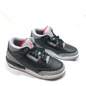 Jordan Retro 3s ♥️BRED❤️ 7Y with Nike on back